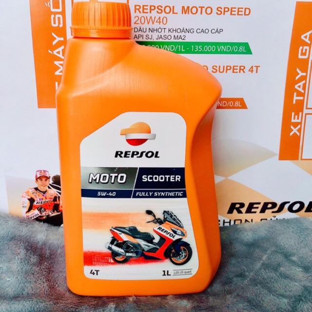 Nhớt Repsol Scooter 5w40 ( nhớt tay ga)