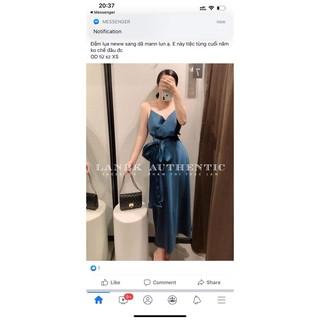 Váy dự tiệc xanh Zara