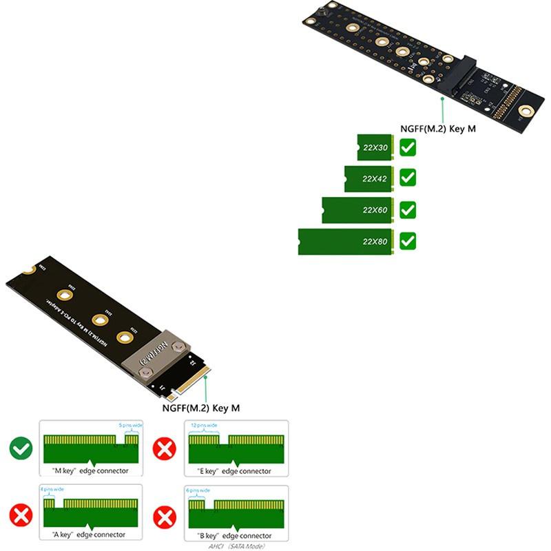 Cáp Mở Rộng Chuyển Đổi M.2 Ngff Nvme M Key Ssd 2280 Thẻ