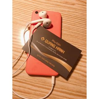 Tai nghe iphone giả zin chân tròn 3.5mm