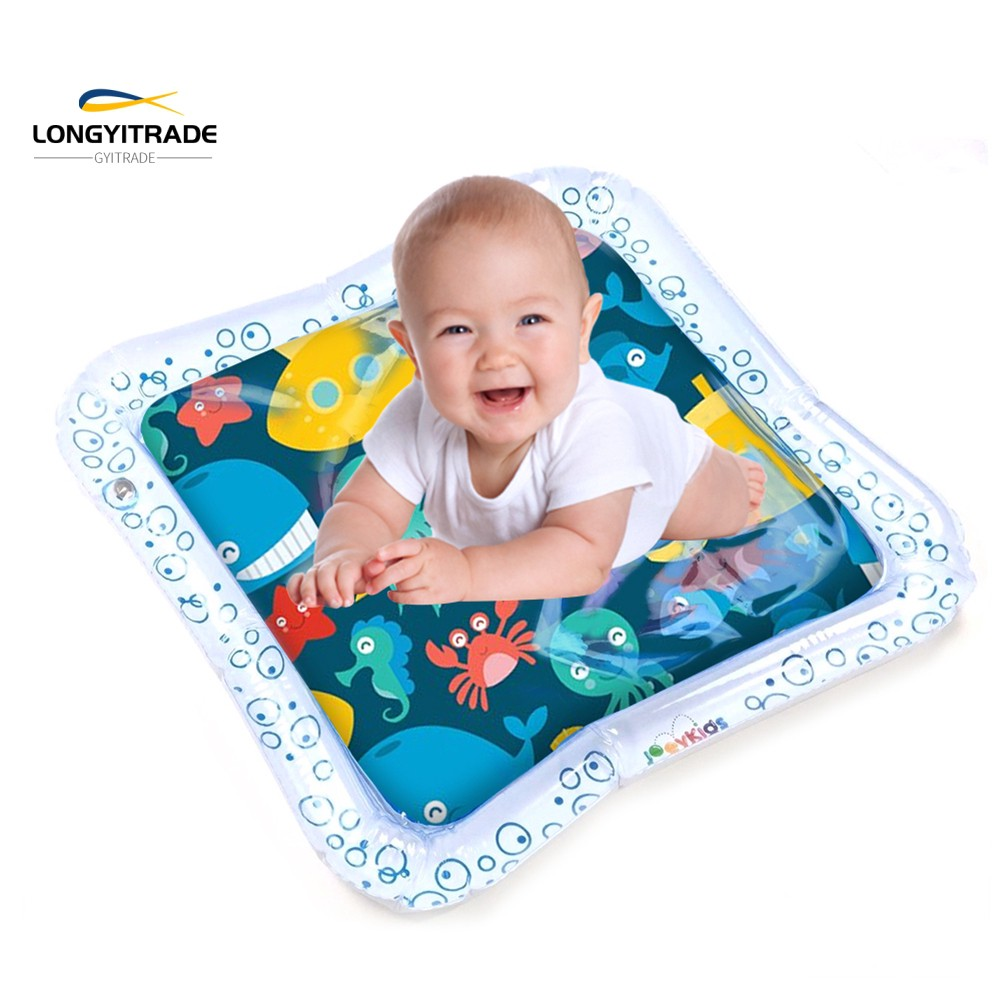 Ocean  Square Inflatable Water Play  Toddler Tummy Time Carpet