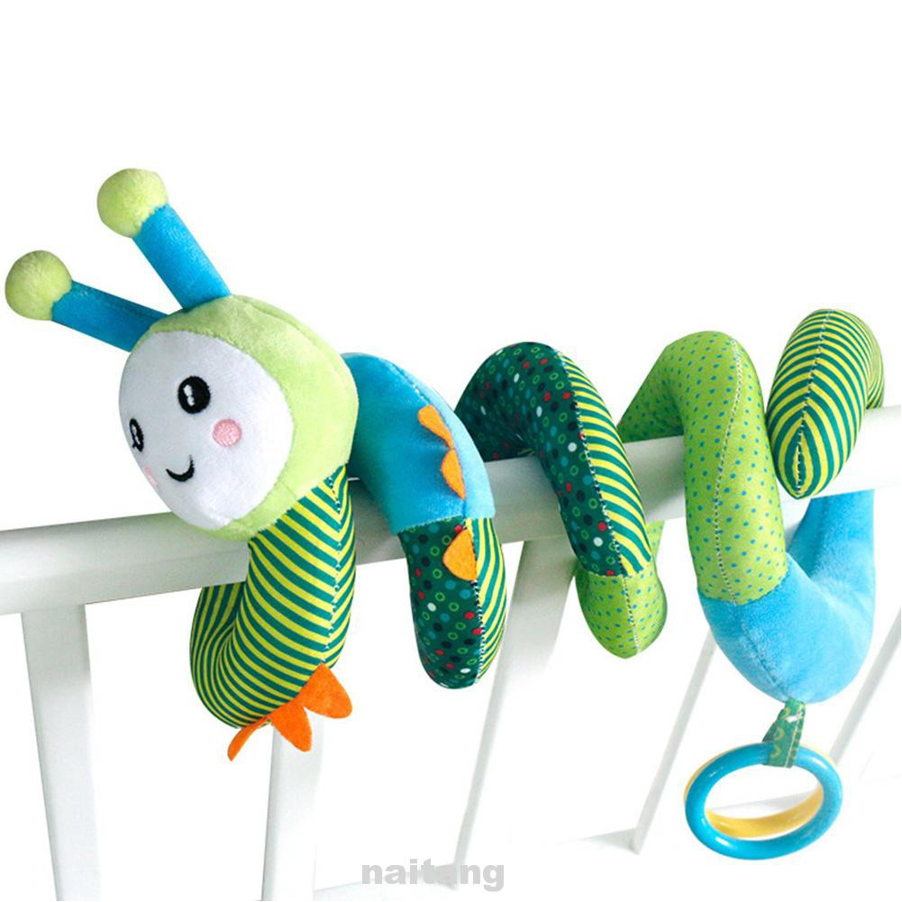 Bed Bells Cute Bee Clear Sound Car Seat Easy Clean Soft Plush Kids Room Non Toxic Hanging Elastic Baby Spiral...
