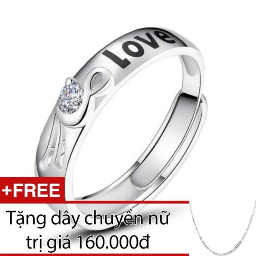 Nhẫn nữ Bạc Hiểu Minh nu365 Tặng dây chuyền nữ bạc giá 160k