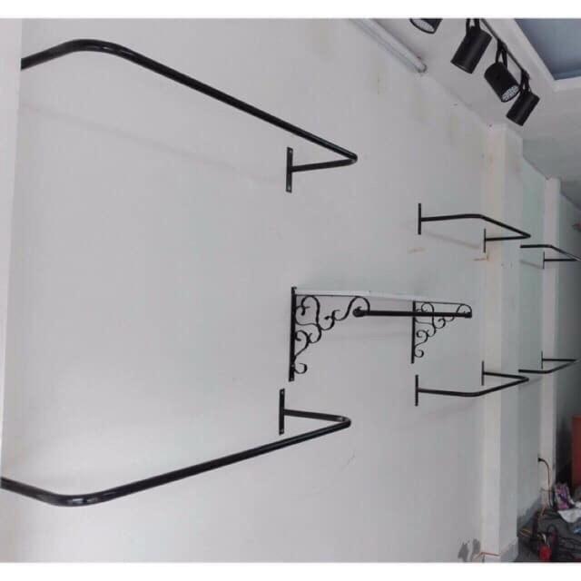 Thanh U đóng tường 1m - 1,2m - 1,5m treo quần áo( tặng vít và nở)