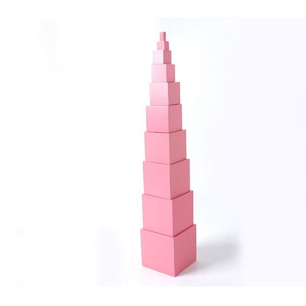 Bộ tháp Hồng – giáo cụ montressori kích thước lớn 1-10cm