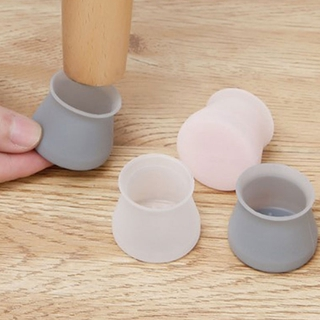 [dou] Table Leg Pad Cover Silicone Rubber Feet Round Chair Cap Floor Protector [vn]