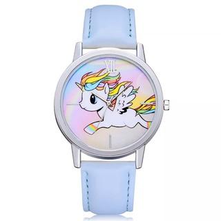 Đồng hồ đeo tay cho bé gái hình ngựa 1 sừng dây da cá tính BBShine DH006 thumbnail