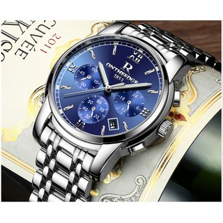Đồng hồ nam dây thép đặc 6 kim cao cấp Ontheedge (fullbox, Blue) thumbnail