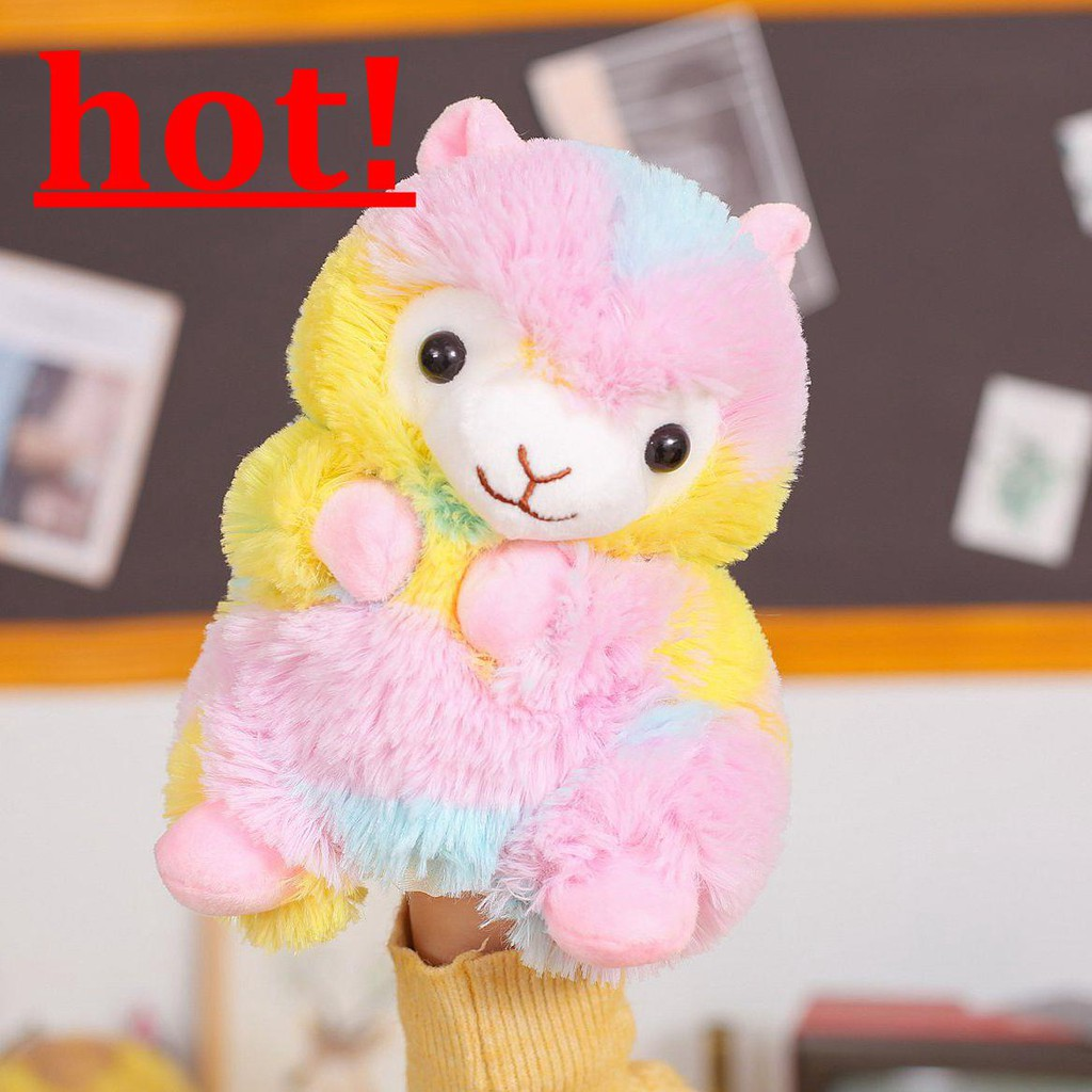 Color Alpaca Comforting Abdominal Cute Animal Hand Puppet Toy Gloves Doll Finger