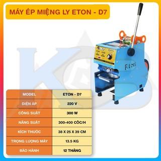 [ELHA12 giảm tối đa 300K]Máy dán ép dập nắp miệng ly cốc ETON D7