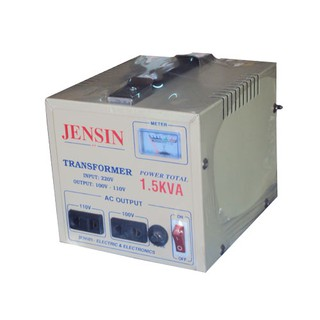Biến áp, biến thế 1.5kva, 220v ra 110v, 100v JENSIN.