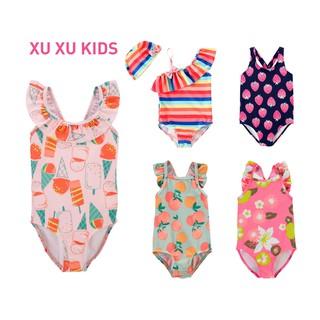 Đồ bơi cho bé, đồ bơi bé gái, bikini liền thân hàng xuất dư Xu Xu Kids size từ 3M đến 5 tuổi