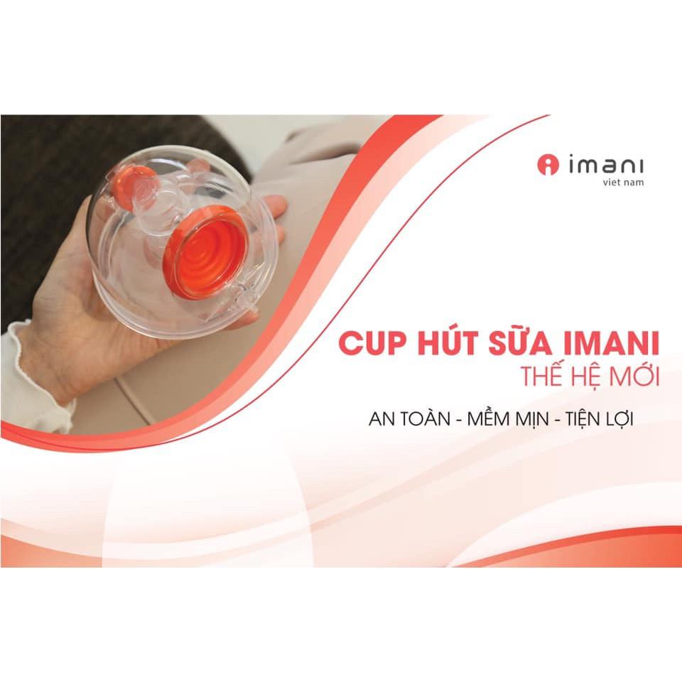 Cup Imani Nhựa Trong Cao Cấp Titan, Phiễu Hút Silicon mền êm ái (Mẫu Mới)