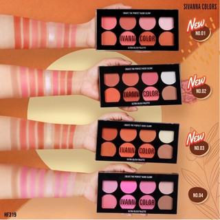 Phấn má hồng 8 ô, Tạo Khối và Bắt Sáng Sivanna Ultra Brush Palette HF319 thumbnail