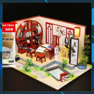 Mô hình nhà búp bê gỗ DIY Nhà búp bê Mô hình láp ghép DIY NGHỆ THUẬT THƯ PHÁP S921 Toy World