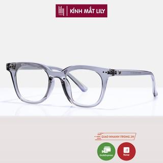 Gọng kính cận nam nữ nhựa Lilyeyewear, kiểu dáng phù hợp với nhiều khuôn mặt, màu sắc thời trang - 614