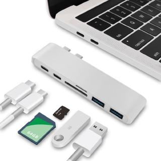 USB C Hub 2 USB 3.0 Port Micro SD Type-C Adapter Charging&Reader For Macbook Pro 13 15 16 Mac Air 13.3 A1932 A2159 A2141