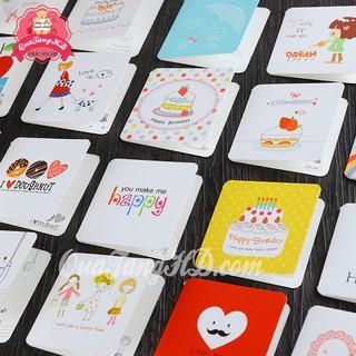 Combo 10 Thiệp Chúc Mừng Sinh Nhật, Giáng Sinh 7x7 Siêu Dễ Thương Có Bì Đựng Mẫu 2 thumbnail