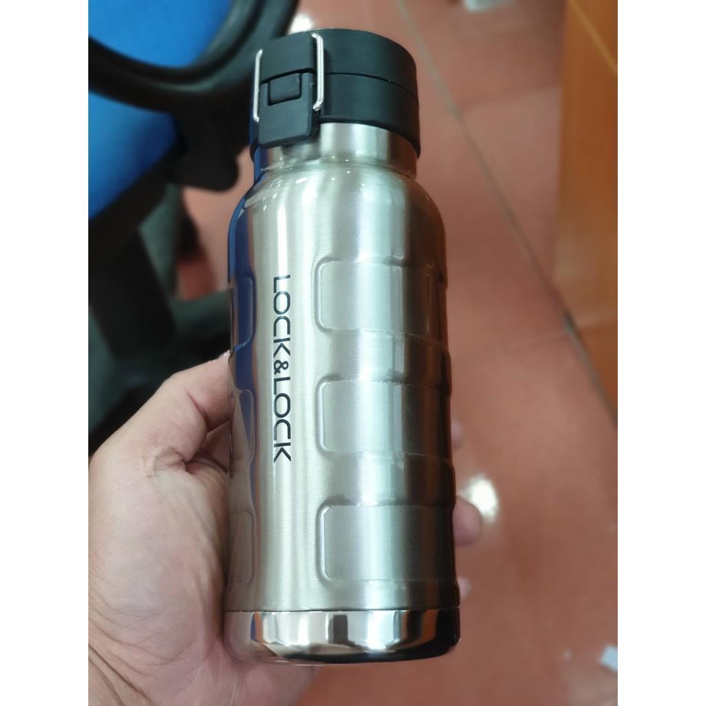 Bình Giữ Nhiệt Thép Không Gỉ Bumper Bottle Lock&Lock LHC4141SLV (470ml / 650ml ) - Bạc -Hàng chính hãng