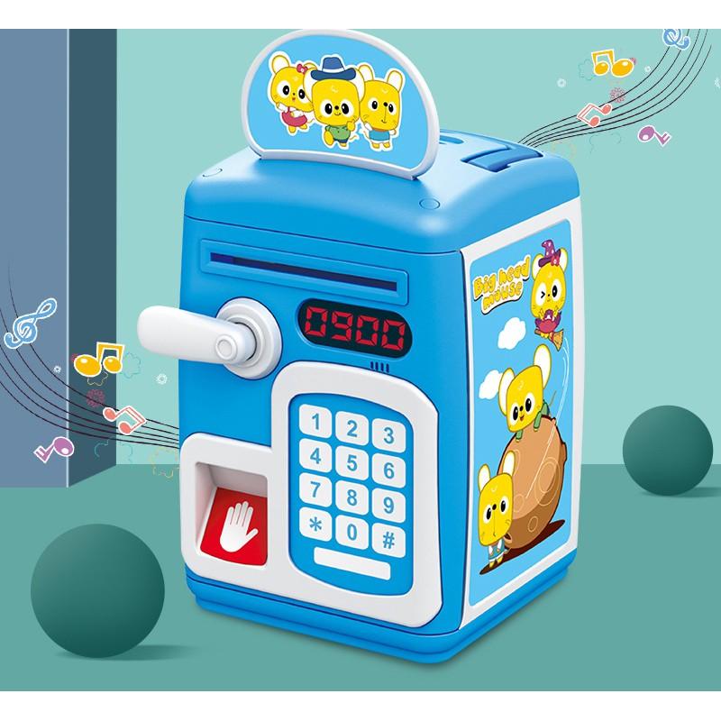 Két sắt khoá cảm ứng vân tay và mật khẩu có quai xách phát nhạc