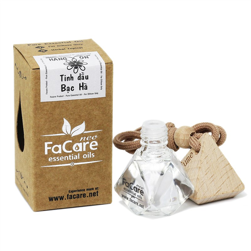 Tinh dầu thiên nhiên loại chai tự khuếch tán 8ml Facare (Cam Ngọt - Bạc Hà - Sả Chanh)