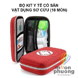[FRSHIP 20K] Túi y tế 18 món – Hộp cứu thương sơ cấp cứu du lịch EVA – MUÔN PHƯƠNG SHOP