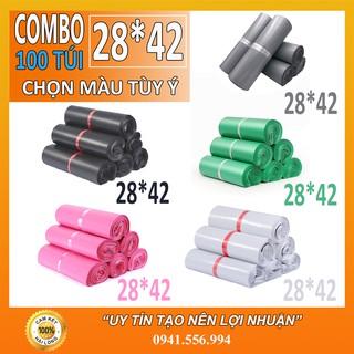 Tuiniemphong 100 Túi Đóng Hàng, Túi Niêm Phong Tự Dính Cao Cấp size 28×42 cm