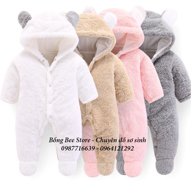 Body lông cừu trần bông tai gấu HÀNG LOẠI 1 cho bé