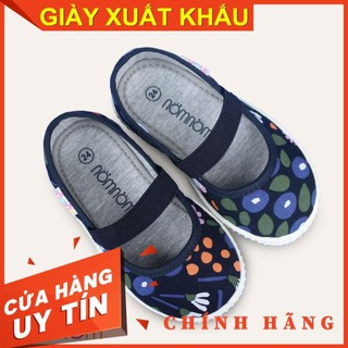 [SALE] Giày búp bê cho bé gái quai chun NomNom EPG19013 màu xanh - Chính hãng