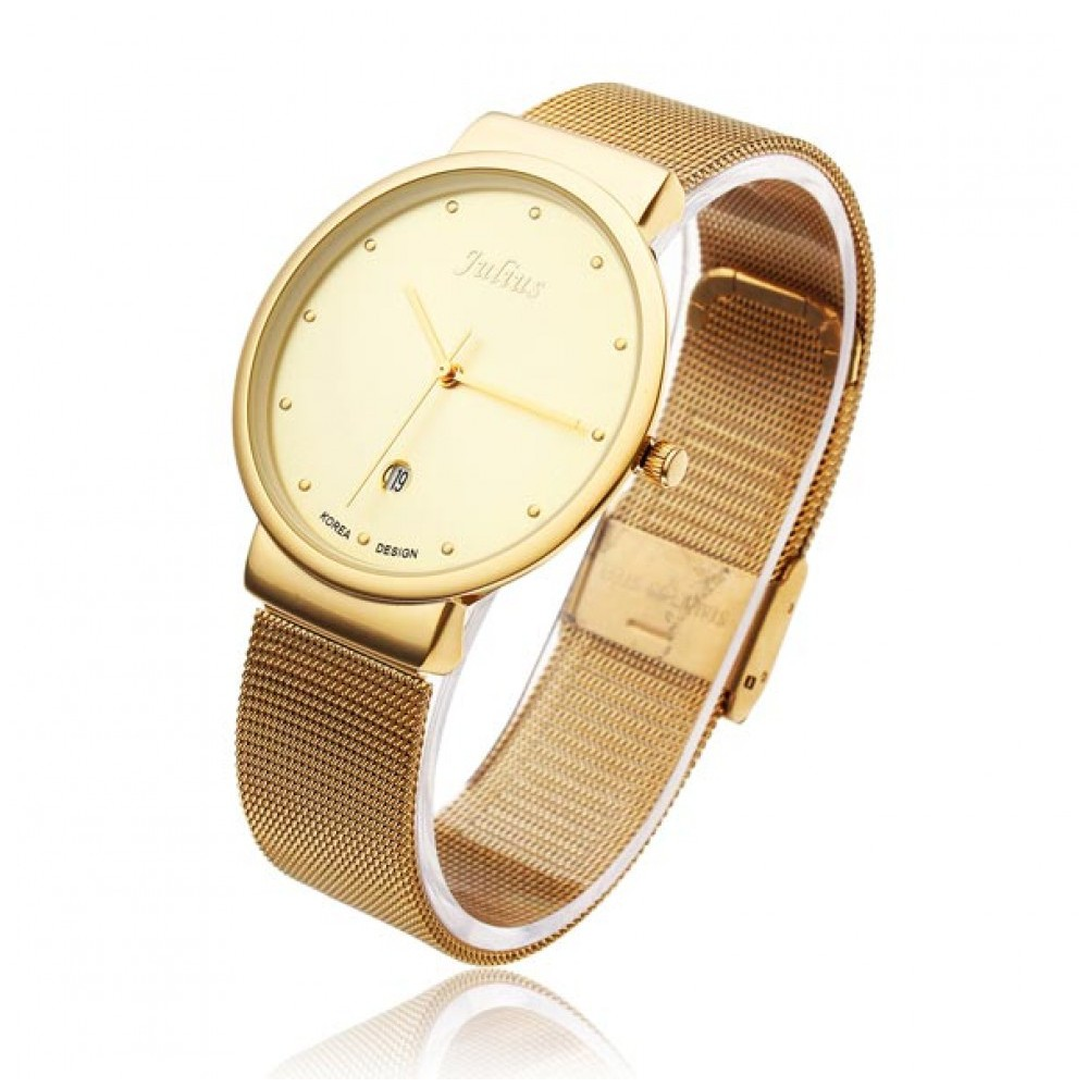 Đồng hồ nam JA-426 Julius Hàn Quốc dây thép (vàng)