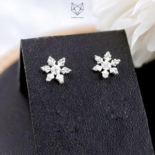 Khuyên Tai Bạc Ta Nữ CaoBac Silver Hình Bông Hoa Tuyết Xinh Xắn Cho Bạn Nữ thumbnail