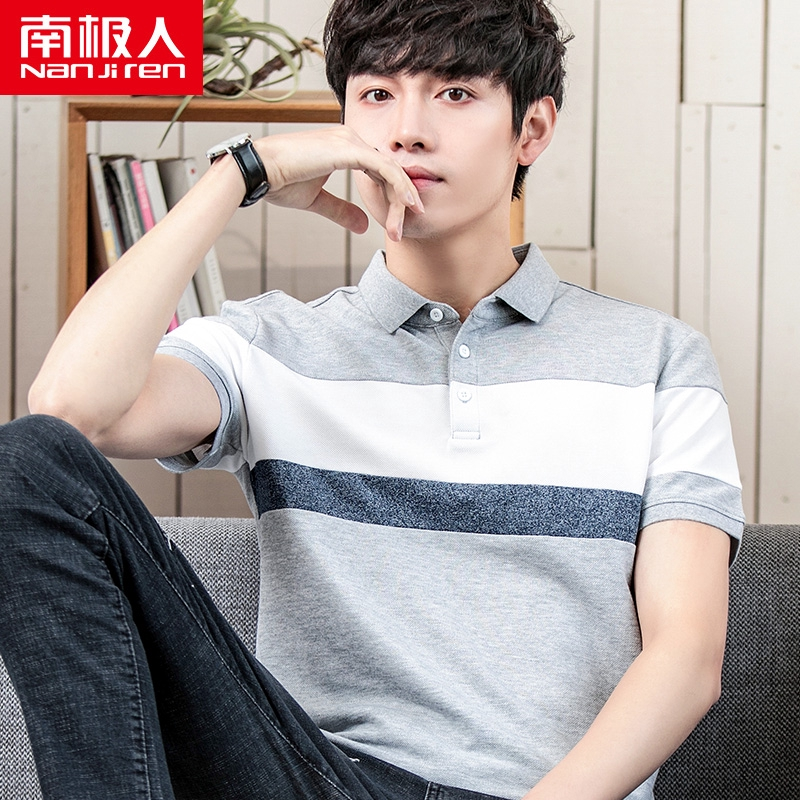 ✿❇Antarctic Man lapel Korean edition trend summer Top