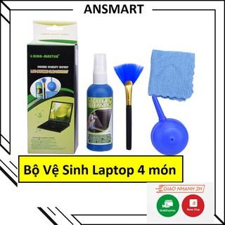 Bộ Vệ Sinh Máy Tính, Lap top, Máy Ảnh, Thiết bị điện tử 4 MÓN ( ANSMART ) thumbnail