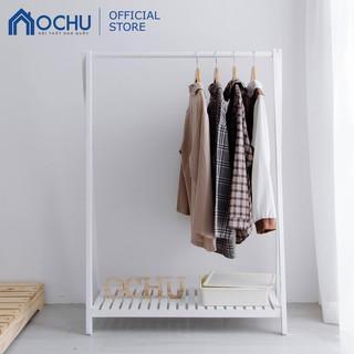 [Mã HLSNVV1212 giảm 15% đơn 99K] Giá Treo Quần Áo Bằng Gỗ Thông OCHU - A Hanger 1F - White thumbnail