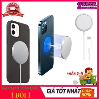 [HÀNG CHUẨN] Sạc không dây Apple MagSafe cho iPhone 12,Airpodpro và các dòng máy hỗ trợ sạc không dây chuẩn Qi QTAZA-B03