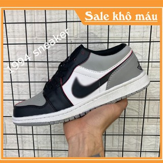 Giày jordan 1 cổ thấp full bill + box jordan xám đen [ảnh thật + video] jordan cổ thấp thumbnail