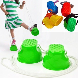 1 Pair Plastic Walk Stilt Jump Outdoor Fun Sports Balance Training Toy