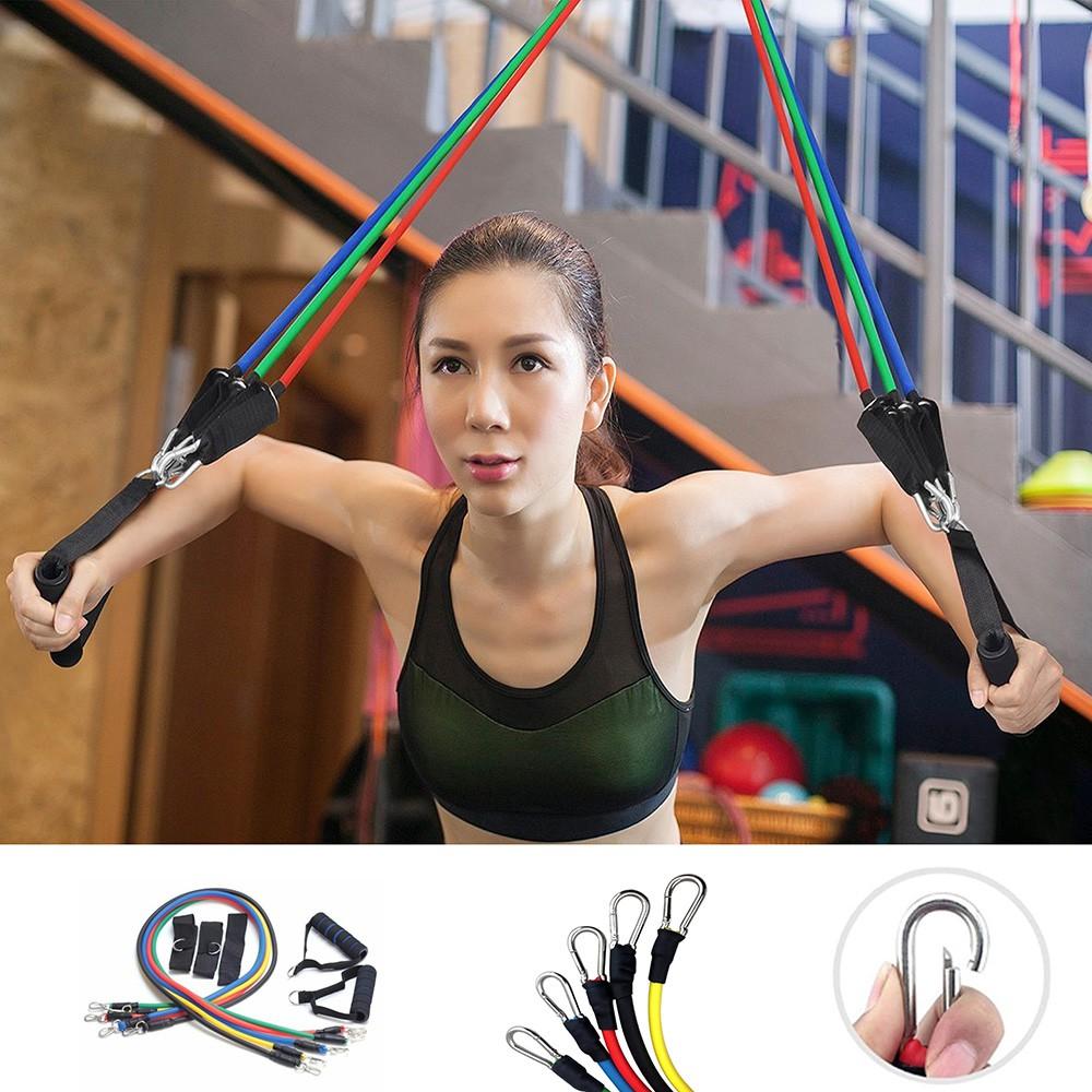 Bộ 5 dây ngũ sắc đàn hồi tập Gym ⚡FREE SHIP⚡ dụng cụ tập gym - thể thao