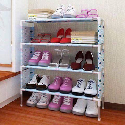Kệ để giày dép 4 tầng hoa văn - 3464696 , 946585107 , 322_946585107 , 80000 , Ke-de-giay-dep-4-tang-hoa-van-322_946585107 , shopee.vn , Kệ để giày dép 4 tầng hoa văn