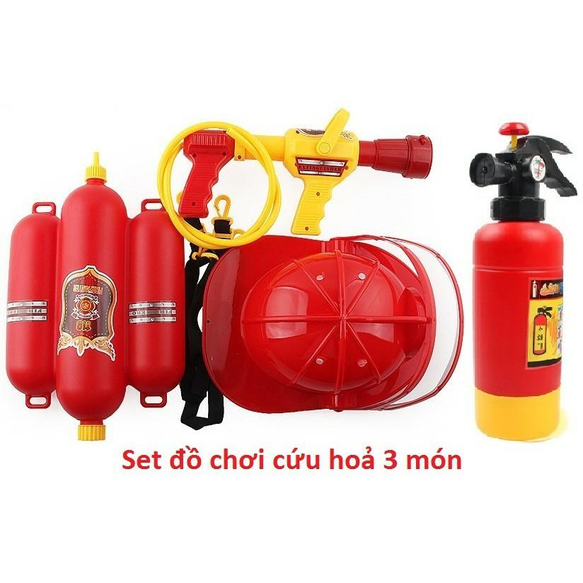 Bộ đồ chơi cứu hỏa 3 chi tiết cho trẻ em