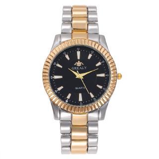 Đồng hồ đeo tay nam thương hiệu thép đồng hồ đơn giản quy mô kỹ thuật số thạch anh đôi