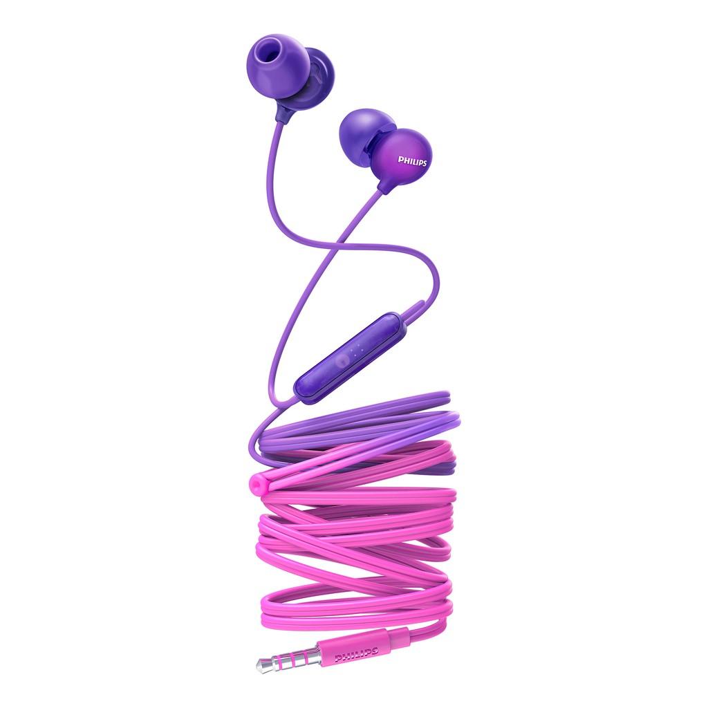 [Mã 156HOAN15K0H hoàn 100% xu đơn từ 99K] Earphone Philips SHE2405PP/00-Purple with Mic
