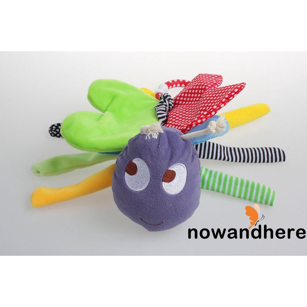 VON-2018 Hot Sell Cute Bee Rattle Animal Handbells Developmental Toy Bed Bells