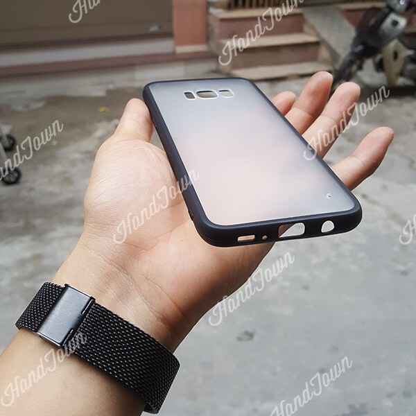Ốp lưng Samsung Galaxy S8 Plus trong mờ viền đen siêu chất giá rẻ