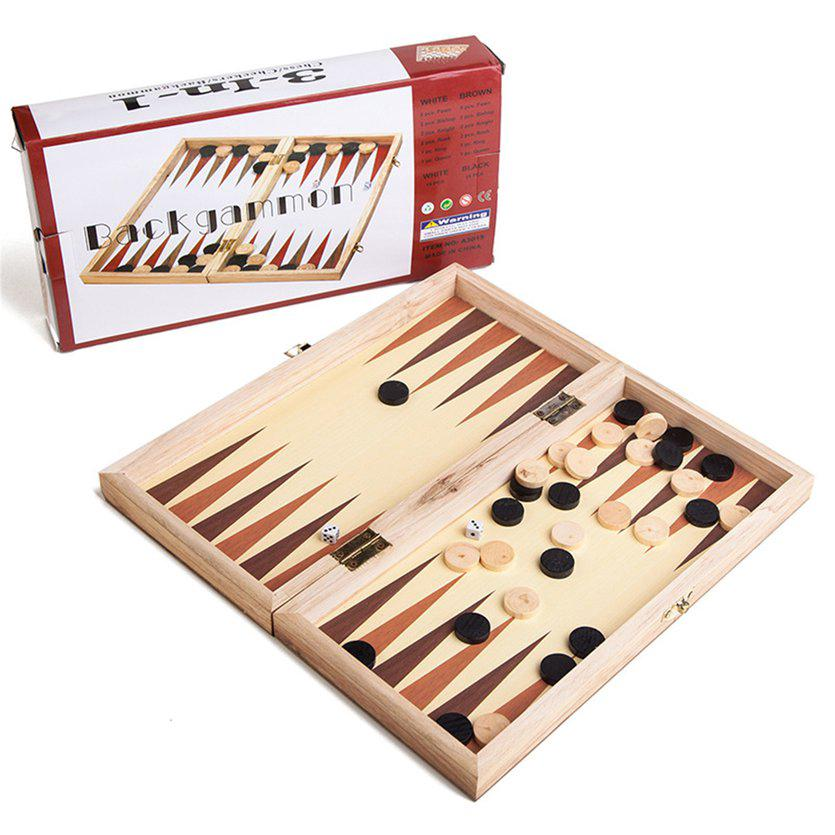 ⚡❄Folding Wooden International Chess Kit Board Game Travel Fun Entertainment