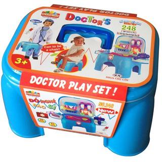 Bộ đồ chơi xếp hình sáng tạo 248 (L3-Ghế ngồi chứa đồ nghề bác sĩ) – M1423-LR