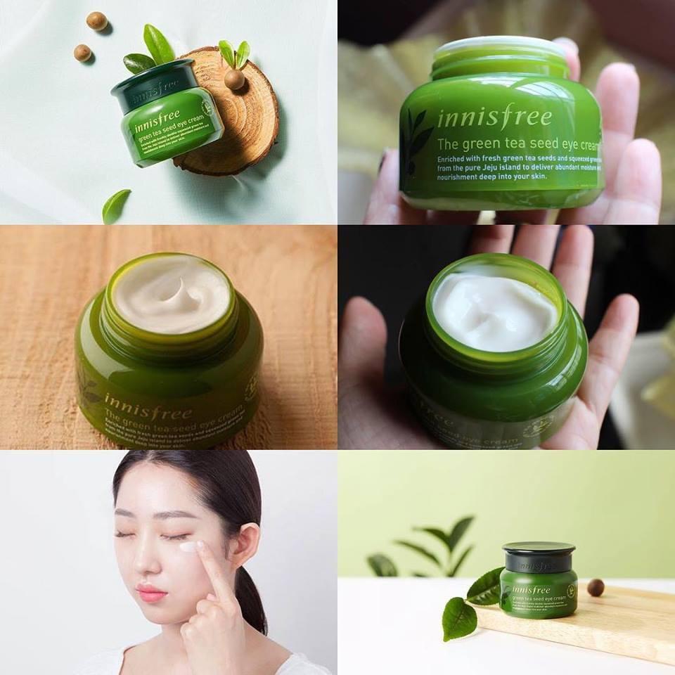 Kem dưỡng mắt trà xanh Innisfree Green Tea Seed Eye Cream 30Ml ( ngochoan) | Shopee Việt Nam