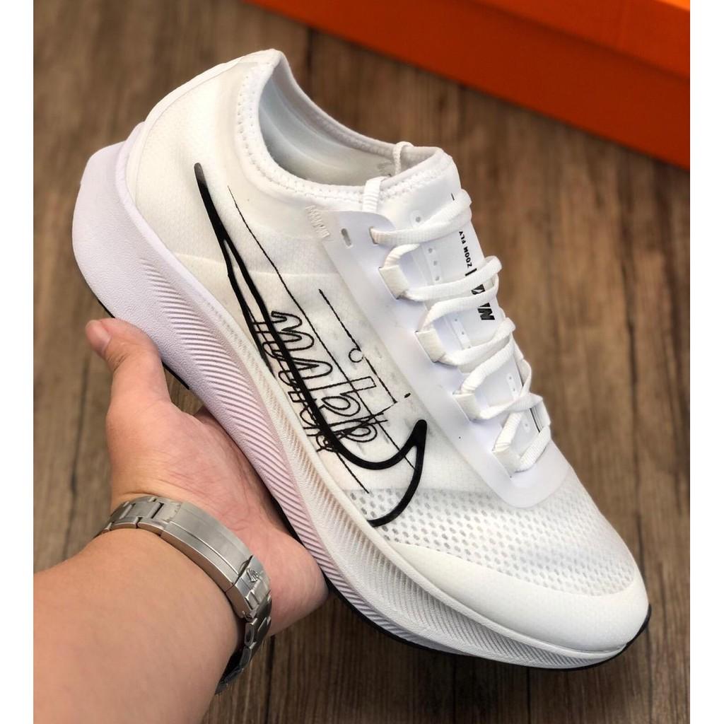 ใหม่ Nike NIKE ZOOM FLY 3 ผู้ชายและผู้หญิงรองเท้าวิ่งมาราธอนกันกระแทกรองเท้าผ้าใบ