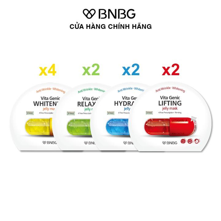 [Mã FMCGMALL giảm 8% đơn từ 250K] Combo 10 mặt nạ dưỡng da chuyên sâu BNBG Vita Genic Jelly Mask 30ml x 10