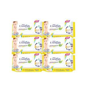 Bộ 6 bịch khăn giấy ướt Unifresh Kháng khuẩn (80 tờ/bịch) nhiều loại
